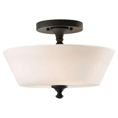 semi-flushmount lights - ceiling lights - the home depot