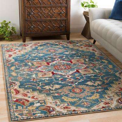 Articlave Navy 5 ft. x 7 ft. Area Rug