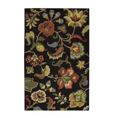 Chintz Charcoal 5 ft. x 8 ft. Area Rug