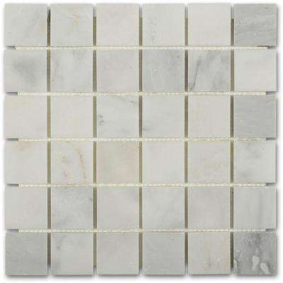 Asian Statuary Mesh Mounted Squares - 12 in. x 12 in. x 10 mm Honed Marble Mosaic Tile