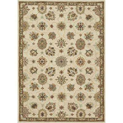 Fairfield Lifestyle Collection Ivory/Taupe 7 ft. 6 in. x 9 ft. 6 in. Area Rug