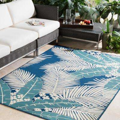 Burrageara Slate 8 ft. x 10 ft. Indoor/Outdoor Area Rug