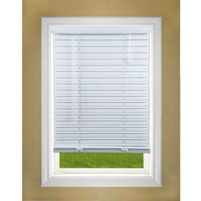 Perfect Lift Window Treatment White 2 inch Premium Vinyl Blind - 35 inch W x 64 inch L