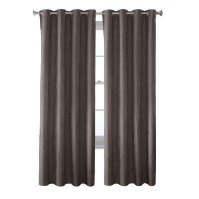 Faux Suede Grommet Curtain 1 Panel