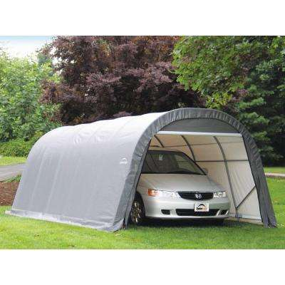 ShelterCoat 12 ft. x 20 ft. Wind and Snow Rated Garage Round Gray STD