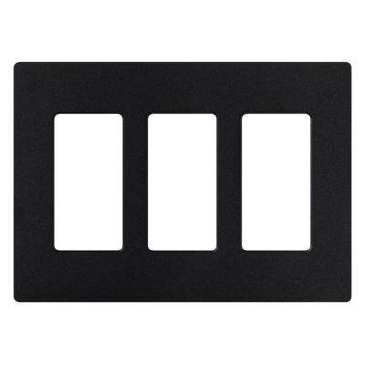 Claro 3 Gang Decora Wall Plate - Midnight