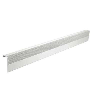 Basic Series 5 ft. Galvanized Steel Easy Slip-On Baseboard Heater Cover in White