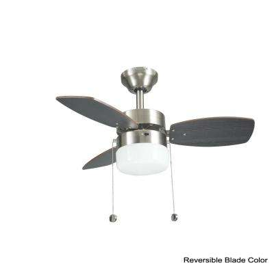 Triplicity 30 in. Indoor Brushed Nickel Ceiling Fan with Light