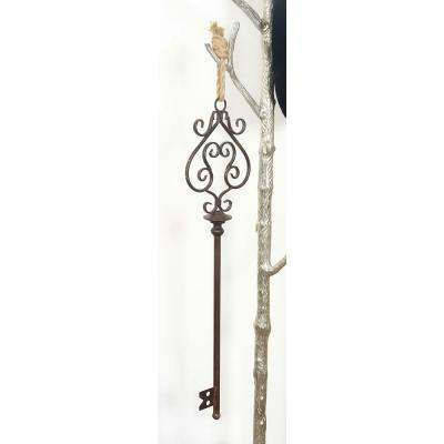 31 in. x 10 in. Old World Black Iron Skeleton Key Wall Sculptures (Set of 3)