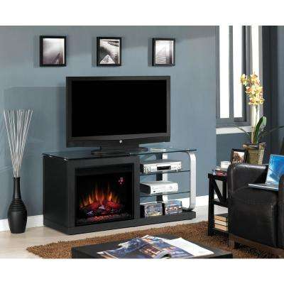 Luxe 52 in. Media Electric Fireplace in Silver