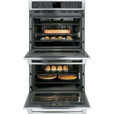 30 in. Double Electric Smart Wall Oven Self-Cleaning with Convection and WiFi in Stainless Steel, Fingerprint Resistant