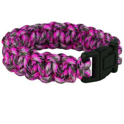 9 in. Pink Camo Paracord Bracelet