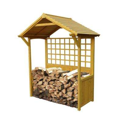 6.6 ft. W x 7.9 ft. H Wooden Firewood Storage Shed