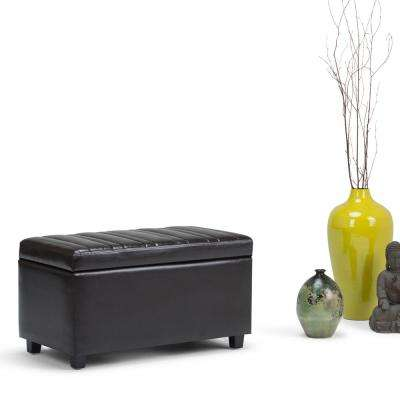 Darcy Tanners Brown PU Faux Leather Storage Ottoman