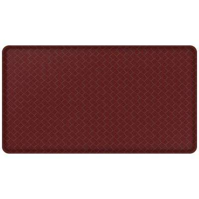 Classic Basketweave Cranberry 20 in. x 36 in. Comfort Mat
