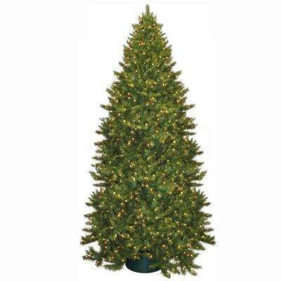 12 ft. Pre-Lit Carolina Fir Artificial Christmas Tree with Clear Lights
