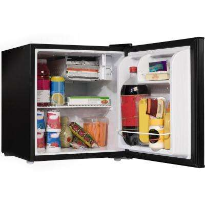 1.7 cu. ft. Mini Fridge Single Door Only in Black
