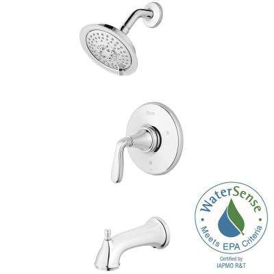 Northcott Single-Handle Tub and Shower Faucet Trim Kit in Polished Chrome (Valve Not Included)