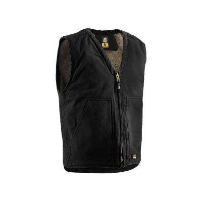 Men's 100% Cotton Washed V-Neck Vest