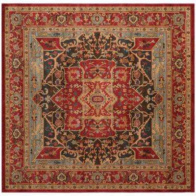 Mahal Red 6 ft. 7 in. x 6 ft. 7 in. Square Area Rug