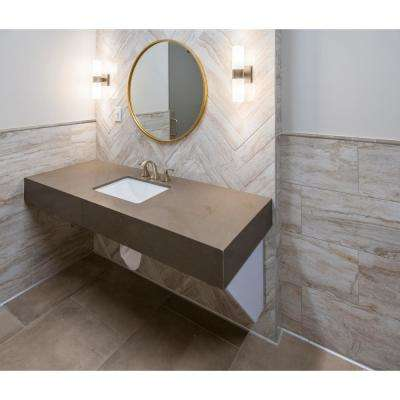 Portico Pearl Quarter Round Molding 5/8 in. x 6 in. Glossy Ceramic Wall Tile (10 lin. ft. / Case)