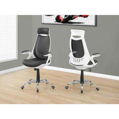 White and Grey High Back Office Chair
