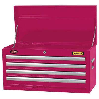 26 in. 4 Drawer Tool Chest in Wide Hot Pink