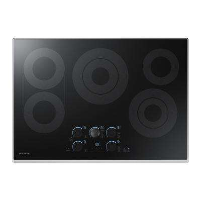 30 in. Glass Surface Electric Cooktop in Stainless Steel with 5 Elements with Rapid Boil
