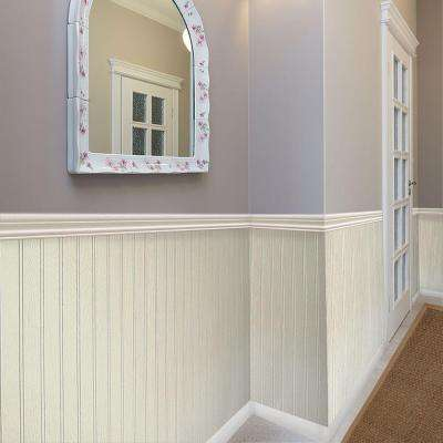 3/16 in. x 48 in. x 32 in. Pinetex White Wainscot Panel