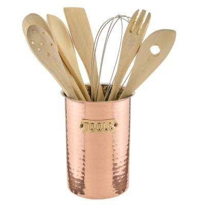 6.25 in. Decor Copper Hammered Tool Set (8 Tools Included)