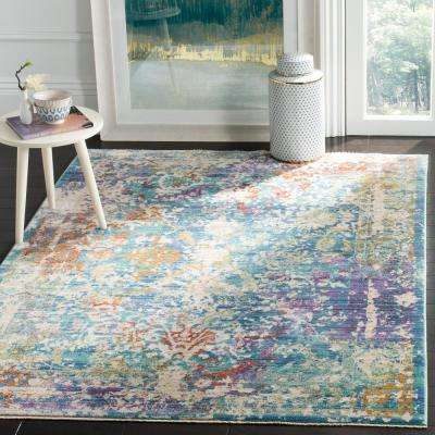 Sutton Turquoise/Lavender 5 ft. x 7 ft. Area Rug