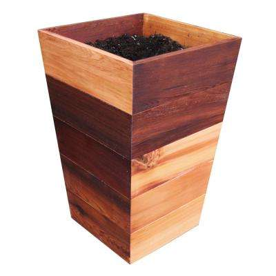 16 in. x 16 in. x 25.5 in. Finished Patio Wood Planter