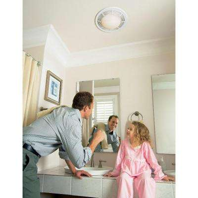 100 CFM Ceiling Bathroom Exhaust Fan with Light