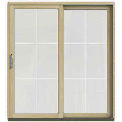 71.25 in. x 79.5 in. W-2500 Desert Sand Prehung Left-Hand Sliding 6-Lite Pine Patio Door with Unifinished Interior