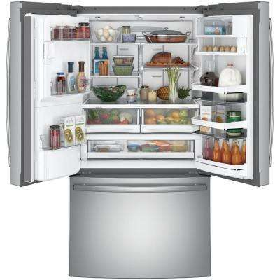 35.75 in. 27.8 cu. ft. Smart French Door Refrigerator with Keurig K-Cup and WiFi in Stainless Steel, ENERGY STAR