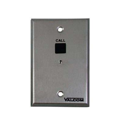1-Gang Call-In Switch Data Plate with Volume Control - Stainless Steel