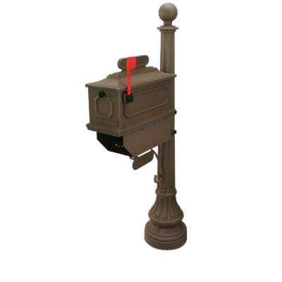 1812 Beaumont 65 in. Plastic Coffee Mailbox and Post