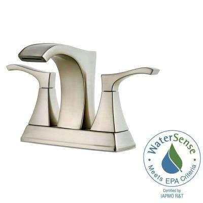 Venturi 4 in. Centerset 2-Handle Bathroom Faucet in Brushed Nickel