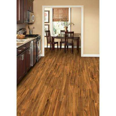Hand Scraped Natural Acacia 3/8 in. T x 4-3/4 in. W x Varying Length Click Lock Wood Flooring (24.94 sq. ft. / case)