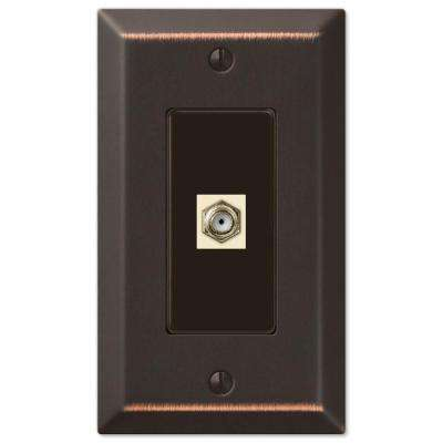 Century 1 Coax Wall Plate - Aged Bronze