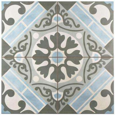 Evasion Azul 17-5/8 in. x 17-5/8 in. Ceramic Floor and Wall Tile (11.1 sq. ft. / case)