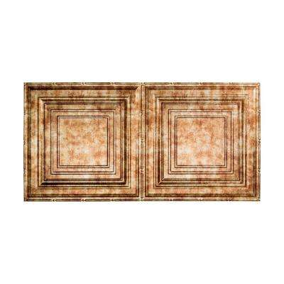 Traditional 3 - 2 ft. x 4 ft. Glue-up Ceiling Tile in Bermuda Bronze