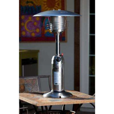 10,000 BTU Stainless Steel Tabletop Propane Gas Patio Heater