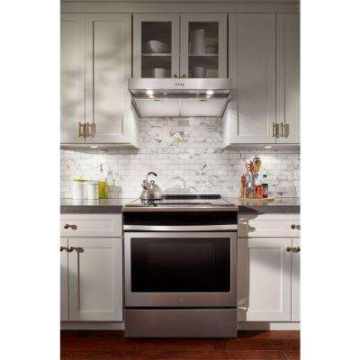 30 in. Under Cabinet Range Hood in Stainless Steel with Dishwasher Safe Full-Width Grease Filters