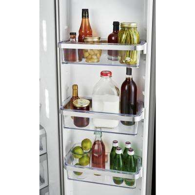 24.8 cu. ft. Side by Side Refrigerator in Black Stainless Steel with PrintShield Finish