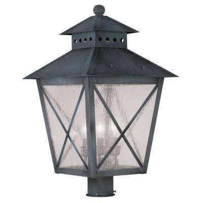 Providence 3-Light 41 in. Outdoor Charcoal Post Head Lantern