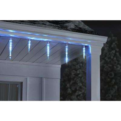 11 in. to 9 in, 7 in. to 8 in. White Christmas Shooting Star Light String Icicle Bulbs