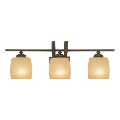 3-Light Bronze Bath Light