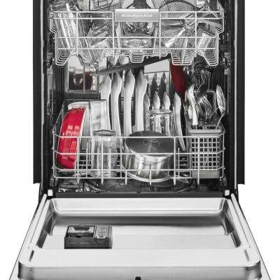 Front Control Built-in Tall Tub Dishwasher in White with PROWASH