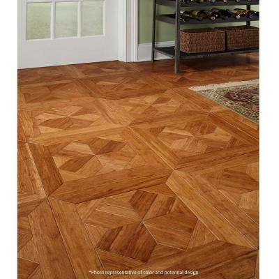 Monticello 9/16 in. Thick x 15.75 in. Wide x 15.75 in. Long Engineered Parquet Hardwood Flooring (17.22 sq. ft./case)